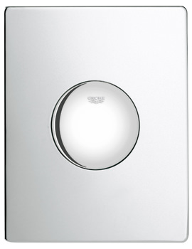 Grohe Skate Chrome WC Wall Plate For Single Flush Actuation