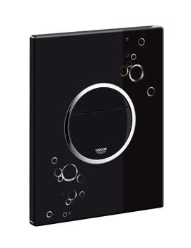 Grohe Nova Cosmopolitan WC Wall Plate Black And Chrome