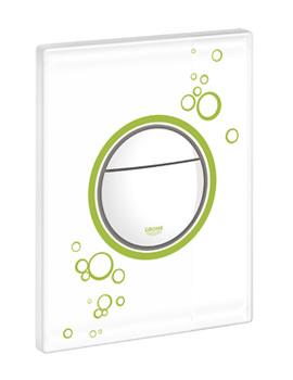 Grohe Moon White Nova Cosmopolitan Dual Flush Actuator WC Wall Plate