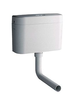 Grohe Adagio White Alpine Concealed Cistern With Bottom Inlet