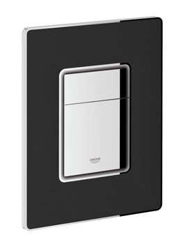 Grohe Skate Cosmopolitan Dual Flush Black Leather WC Wall Plate