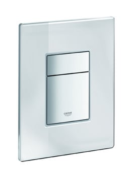 Grohe Skate Cosmopolitan Dual Flush Mirror Glass WC Wall Plate
