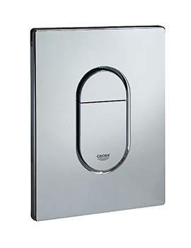 Grohe Arena Chrome Print Vertical Flush Plate