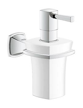 Grohe Spa Grandera Ceramic Soap Dispenser With Chrome Holder