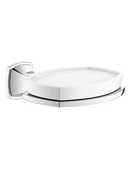 Grohe Spa Grandera Soap Dish With Chrome Holder