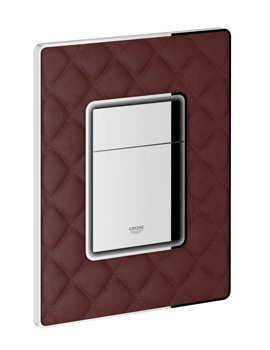 Grohe Skate Taninred-Chrome Cosmopolitan Dual Flush Leather Actuation Plate