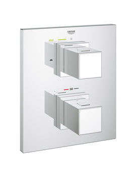 Grohe Grohtherm Cube Thermostat With 2-Way Diverter Bath Shower Trim