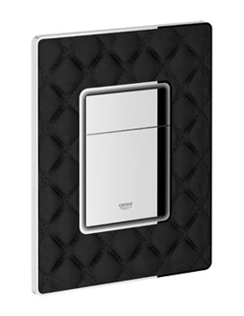 Grohe Skate Cosmopolitan Dual Flush Leather Actuation WC Wall Plate Black