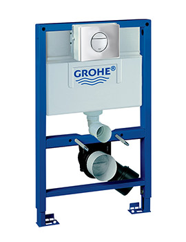 Grohe Rapid SL 0.82m WC Frame And Cistern 4 In 1 Pack With Nova Flush Plate