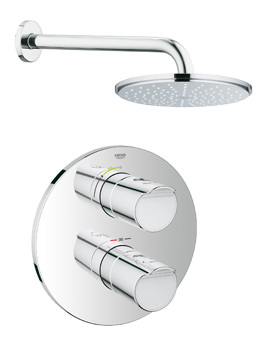 Grohe Grohtherm 3000 Cosmopolitan Plus Rainshower Shower Solution Pack 1