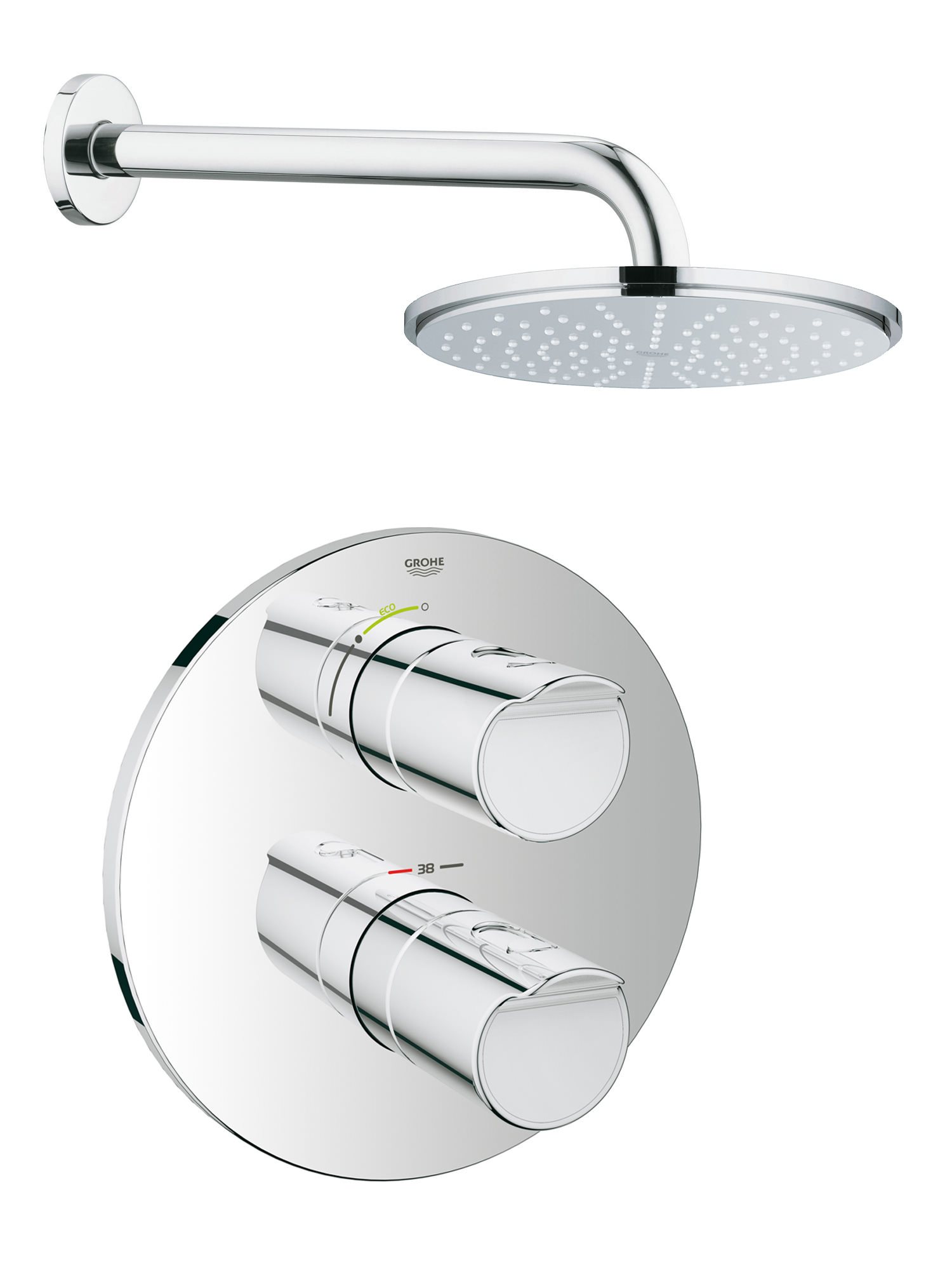 Grohe Grohtherm 3000 Cosmopolitan Rainshower Shower Solution Pack1