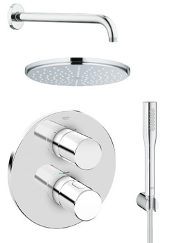 Grohe Grohtherm 3000 Cosmopolitan Plus Rainshower Shower Solution Pack 4