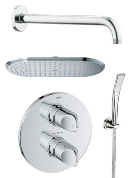 Grohe Spa Veris Plus Rainshower Shower Solution With Handset Pack 3