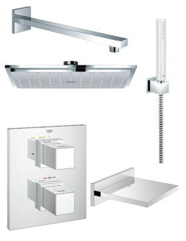 Grohe Grohtherm Cube Bath And Shower Shower Solution Pack 5