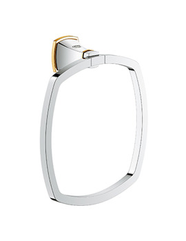 Grohe Spa Grandera Chrome And Gold Towel Ring
