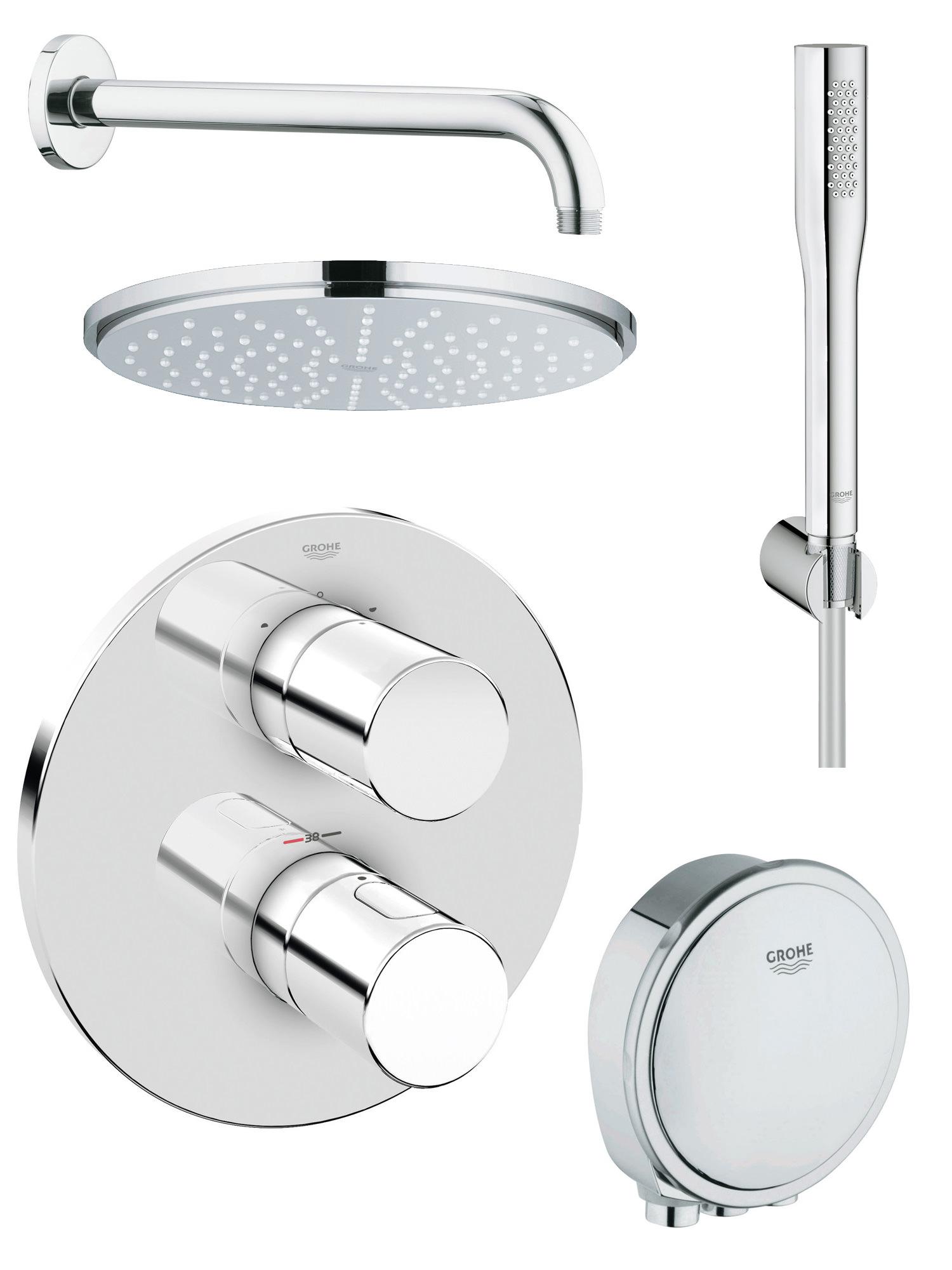 grohe grohtherm 3000 cosmopolitan bath shower shower. Black Bedroom Furniture Sets. Home Design Ideas