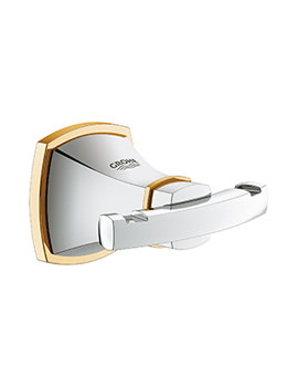 Grohe Spa Grandera Chrome And Gold Robe Hook
