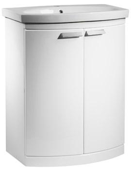 Tavistock Tempo 650mm Gloss White Finish Freestanding Unit With Basin