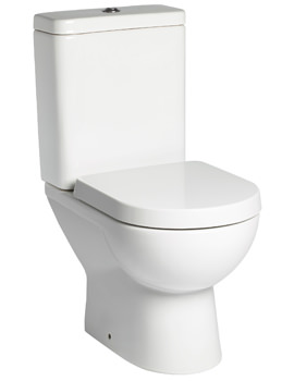 Tavistock Ion Close Coupled 600mm WC Pan With Cistern And Seat
