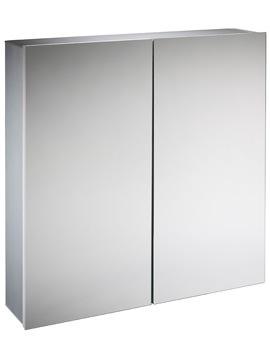 Tavistock Balance Aluminium 600 x 650mm Double Door Mirror Cabinet