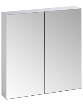 Tavistock Observe White 650 x 600mm Double Door Mirror Unit