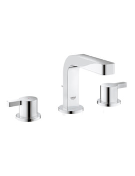 Grohe Lineare Three Hole Basin Mixer Tap With Pop Up Waste Chrome