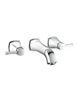 Grohe Spa Grandera Wall mounted 1/2 Inch 3 Hole Basin Mixer Tap Chrome