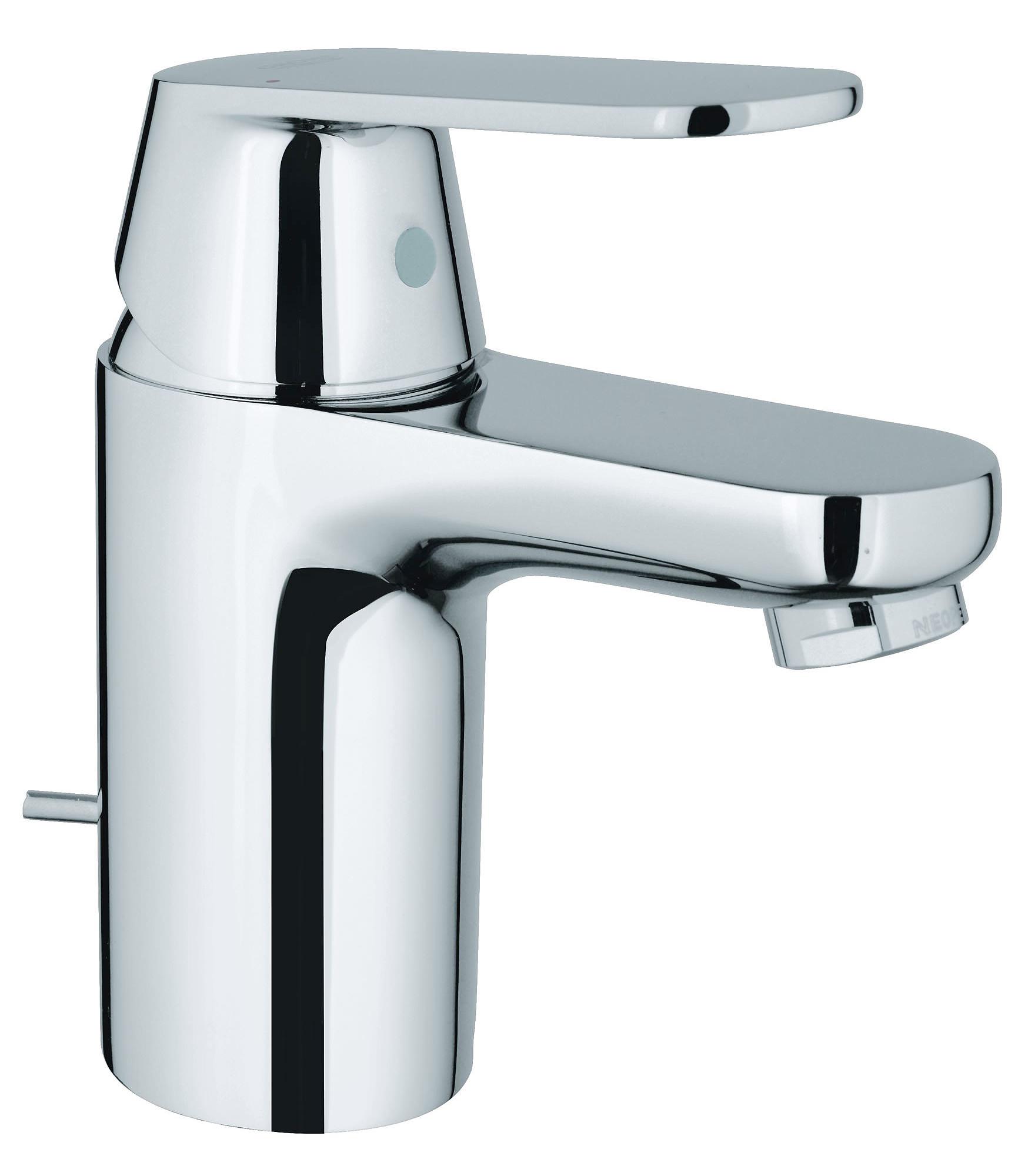 grohe eurosmart cosmopolitan basin mixer tap with pop up waste. Black Bedroom Furniture Sets. Home Design Ideas