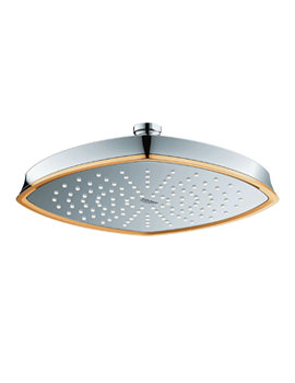 Grohe Spa Rainshower Grandera 210 Shower Head Chrome And Gold Finish