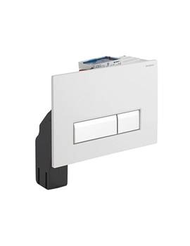 Geberit Sigma40 White Glass Flush Plate With Integrated Odour Extraction
