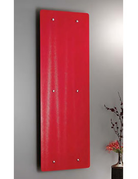 Apollo Ferrara Red Glass Decorative Radiator 500 x 1420mm