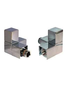 DQ Heating Q Corner Luxury Manual Radiator Valves Chrome