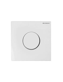 Geberit Sigma10 Pneumatic Urinal Flush Control - White Alpine