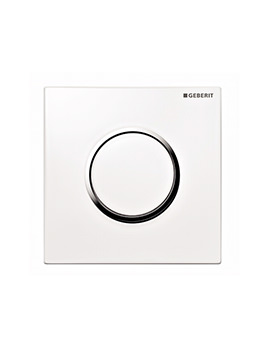 Geberit Sigma10 Pneumatic Urinal Flush Control - White - Chrome