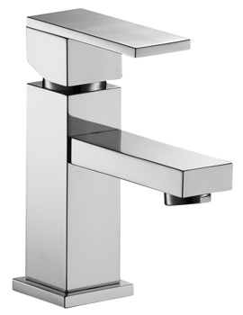 Pura Bloque Single Lever Basin Mixer Tap With Clicker Waste