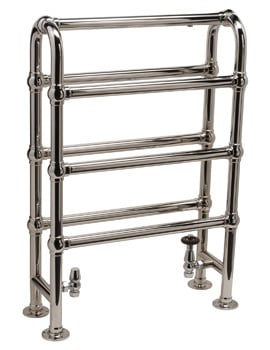DQ Heating Hilborough Floor Standing Traditional Towel Rail 846 x 1032mm