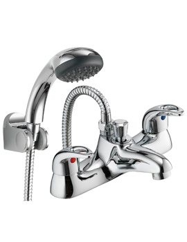 Pura Dv8 Deck Mounted Bath/Shower Mixer Tap With Kit