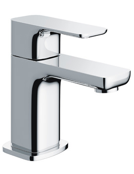Pura Flite Single Lever Chrome Basin Mixer Tap With Clicker Waste
