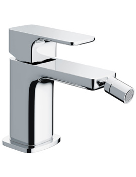 Pura Flite Single Lever Chrome Bidet Mixer Tap With Clicker Waste
