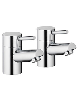 Pura Xcite Chrome Finish Bath Pillar Taps