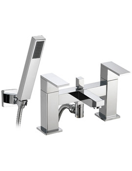 Pura Bloque Deck Mounted Bath/Shower Mixer Tap With Kit