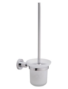 Red Dot Loxx Chrome Plated Toilet Brush Set