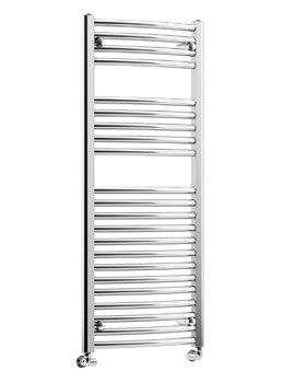 DQ Heating Orion Curved Heated Towel Rail 500 x 1000mm Chrome