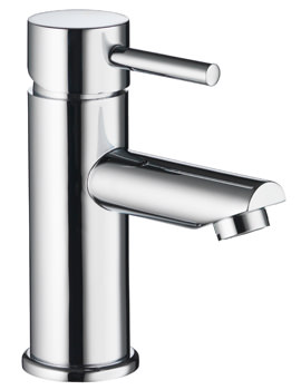 Pura Ivo Single Lever Chrome Basin Mixer Tap With Clicker Waste