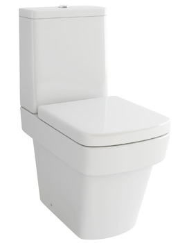 Pura Str8 Close Coupled WC Pan With Cistern And Soft Close Seat 640mm
