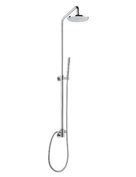 Pura Levo Shower Rigid Riser Set With Diverter And Round Head