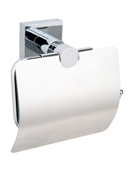 Red Dot Hukk Chrome Plated Toilet Roll Holder With Cover