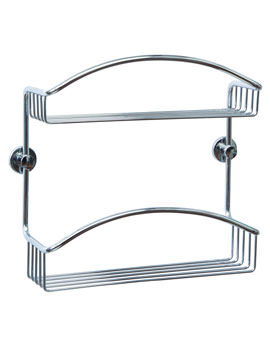 Red Dot Coorb Chrome Plated Double Tier Shower Caddy