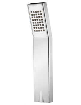 Pura Square Chrome Finish ABS Single Function Shower Handset