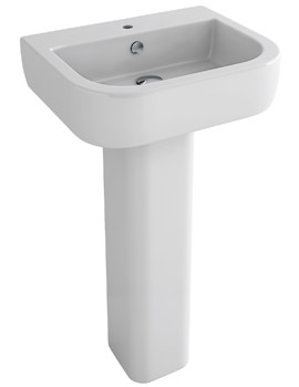 Pura Essence 1 Tap Hole 560mm Basin And Full Pedestal